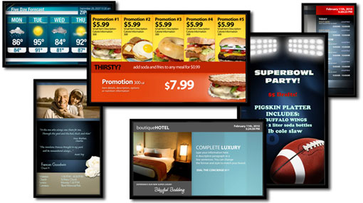 digital signage collage